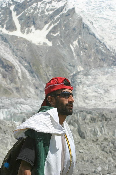 Naimat Karim, our light weight rower who is also from the mountainous parts of Pakistan.