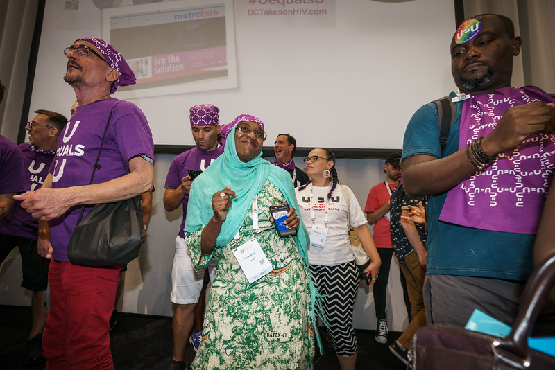 22nd International AIDS Conference (AIDS 2018) Amsterdam, Netherlands.   Copyright: Matthijs Immink/IAS  The U=U 2018 dance party!