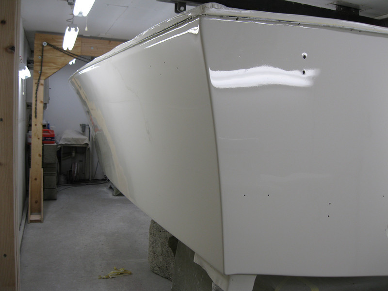 Rear port view of side painted.