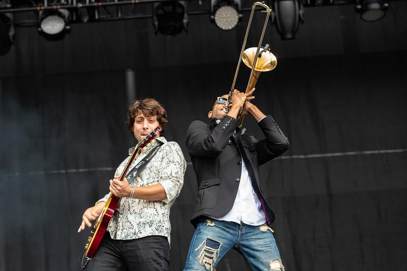 Trombone Shorty performing at Bottlerock