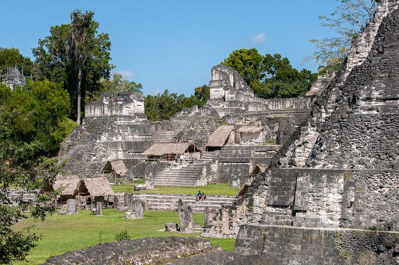 Mayan temple ruins in Tikal National Park, Guatemala