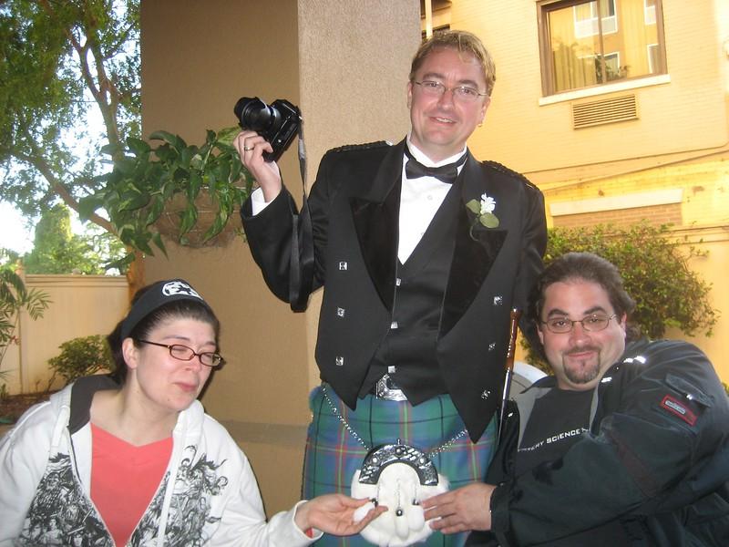 Everyone pet the groom!