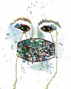 """Miss My Smile"" (watercolor) by Deena King"