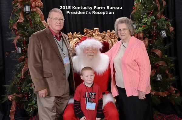 2015  KY Farm Bureau President's Reception Santa Claus Photos