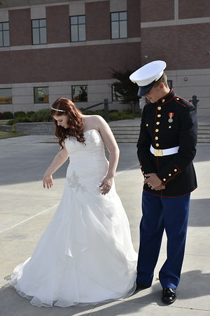 Bride and her Marine