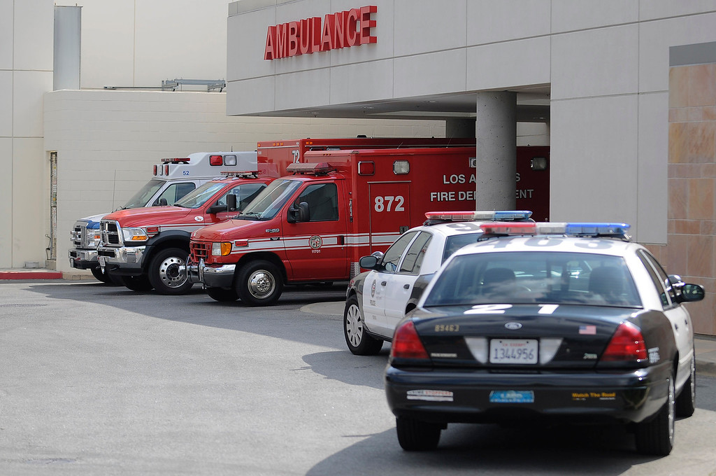 . This ambulance took 10-year-old Nicole Ryan to West Hills Hospital. The girl who was reported missing from her family\'s Northridge home was found safe Monday afternoon in Woodland Hills, and police said it was unclear whether she had been abducted or ran away. After an 11-hour search, Nicole Ryan was found near a strip mall about six miles from her home, Los Angeles police Capt. Kris Pitcher said. Woodland Hills,CA 3/26/2013(John McCoy/Staff Photographer