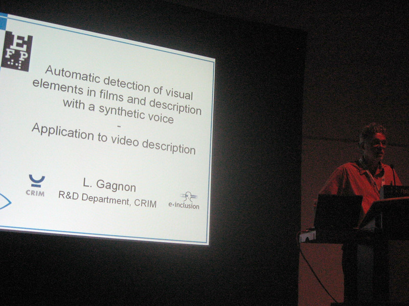 My colleague Bernd Benecke's presentation on Audio Description (Germany)