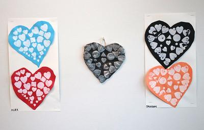 LS Kindergarten Heart Art 2-12-21