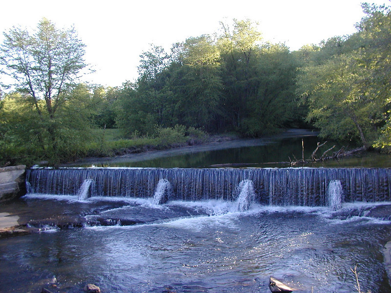Old Mill weir along Cove Creek Grassy Cove, TN  in Cumberland County