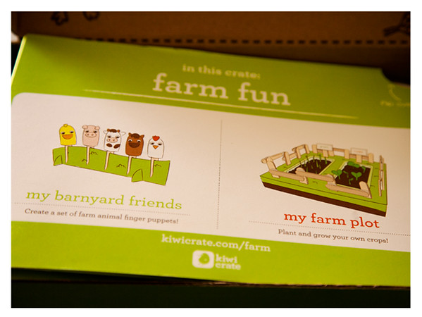 August 2014 Kiwi Crate: Farm Fun Activities