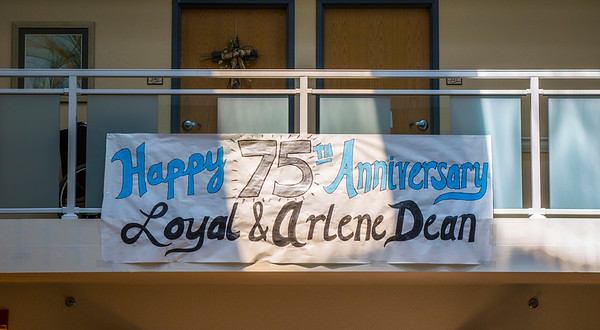 Loyal and Arlene Dean 75th Anniversary