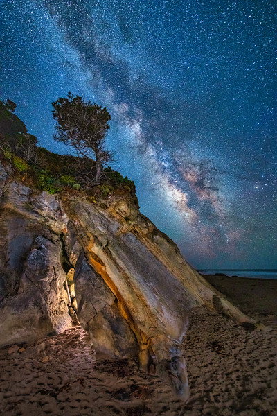 Schooner Beach & Milky Way, Point Arena, CA