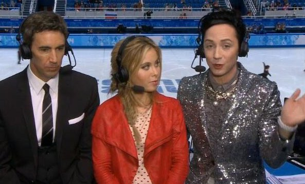 """. <p><b> NBC�s Sochi Olympic ratings are down, and that�s bad news because the network has already paid $4.3 billion for � </b> <p> A. Olympic rights through 2020 <p> B. The 2016 Summer Games in Rio de Janeiro <p> C. Johnny Weir�s wardrobe <p><b><a href=\'http://www.deadline.com/2014/02/olympics-sochi-nbc-ratings-hockey-official-day-eight/\' target=\""""_blank\"""">HUH?</a></b> <p>   (Photo from YouTube)"""