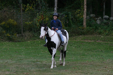 Zena's first ride on the farm
