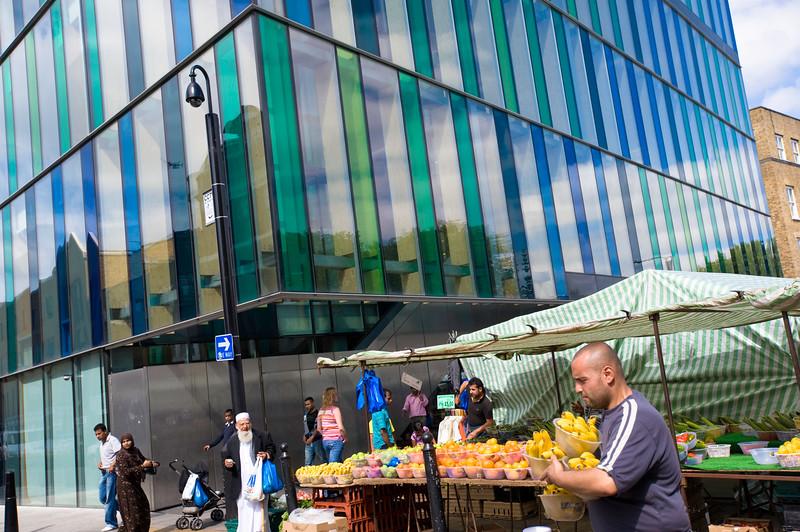 market on Whitechapel Road, E1, London, United Kingdom