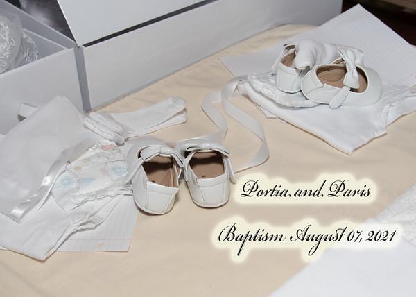 Portia and Paris Baptism August 07,2021