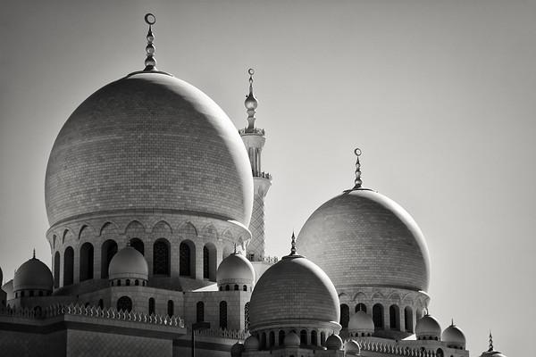 Sheikh Zayed Mosque BW - Abu Dhabi