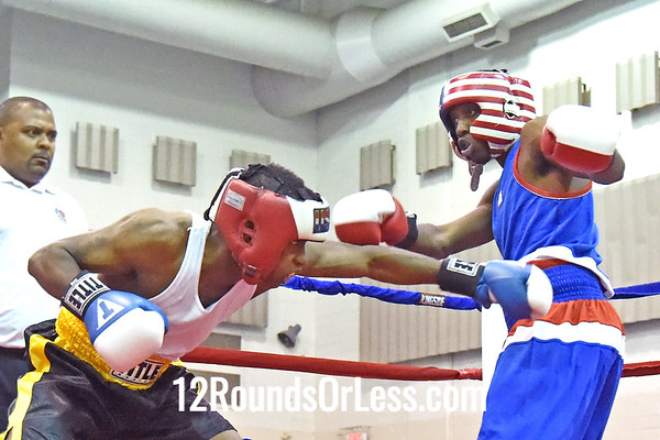 Bout 7 Tyrin Whitaker, Red Gloves, 20 Yrs, 152 lbs, MI -vs- Abdus McGlockin, Blue Gloves, 23 yrs, 152 lbs, Cleveland