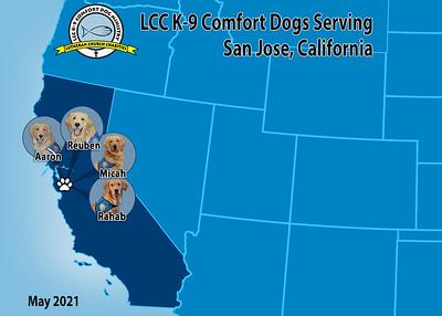 LCC K-9 Comfort Dogs Deploy to San Jose