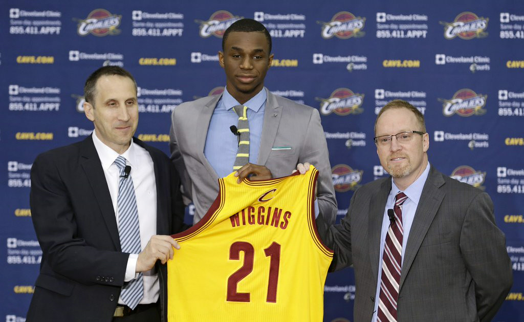 ". 2. ANDREW WIGGINS <p>LeBron James hasn�t spoken to him yet, because he�s too busy speaking to Kevin Love. (unranked) </p><p><b><a href=""http://www.si.com/nba/2014/08/04/andrew-wiggins-lebron-james-kevin-love-trade-cavaliers\"" target=\""_blank\""> LINK </a></b> </p><p>   (AP Photo/Tony Dejak)</p>"