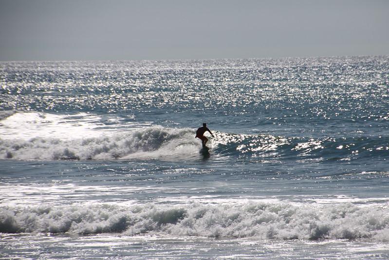 Good surf past 18th green at Mukul