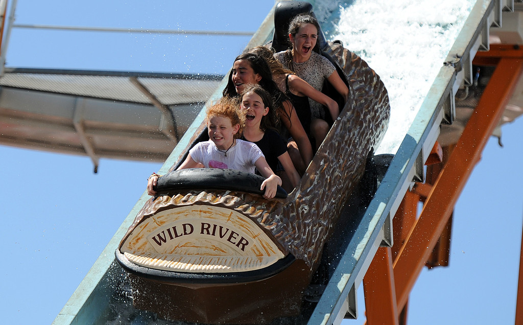 . Kids and adults enjoy the Wild river log ride during the 91st Annual L.A. County Fair in Pomona, Calif. on Thursday, Sept. 5, 2013.   (Photo by Keith Birmingham/Pasadena Star-News)