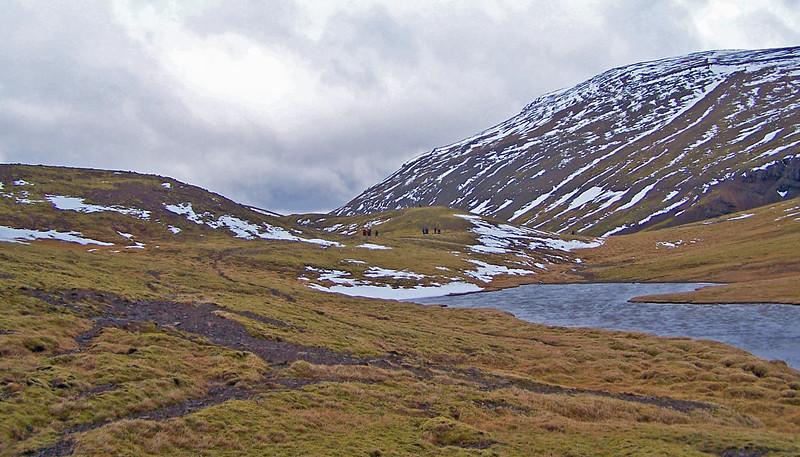 Hópurinn við Dalamótatjörn