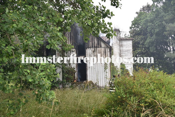 STATESVILLE ABONDONED HOUSE FIRE
