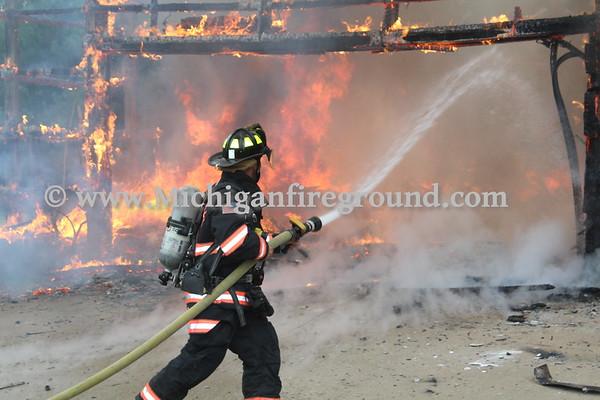 10/2/18 - Onondaga pole barn fire, 4950 Kinneville