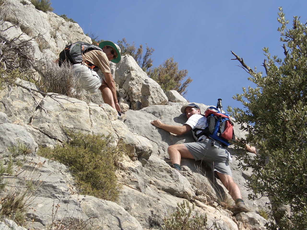 Martyn and Gareth on the Guadalest to Aixorta scramble
