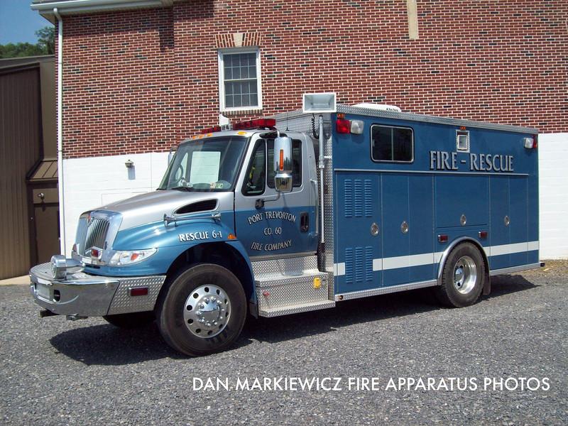 PORT TREVORTON FIRE CO. RESCUE 6-1 2005 INTERNATIONAL/SWAB LIGHT RESCUE