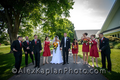 Wedding at the   Rolling Greens at Dutchess Golf & Country Club - 2628 South Rd,Poughkeepsie, N.Y. 12601 By Alex Kaplan Photo - Video - Photo Booth