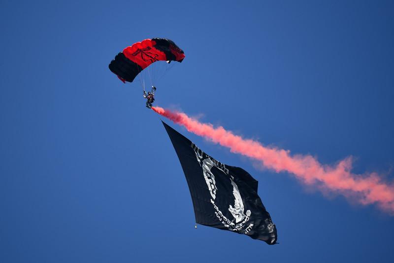 Black Daggers and British Red Devils Parachute Jump