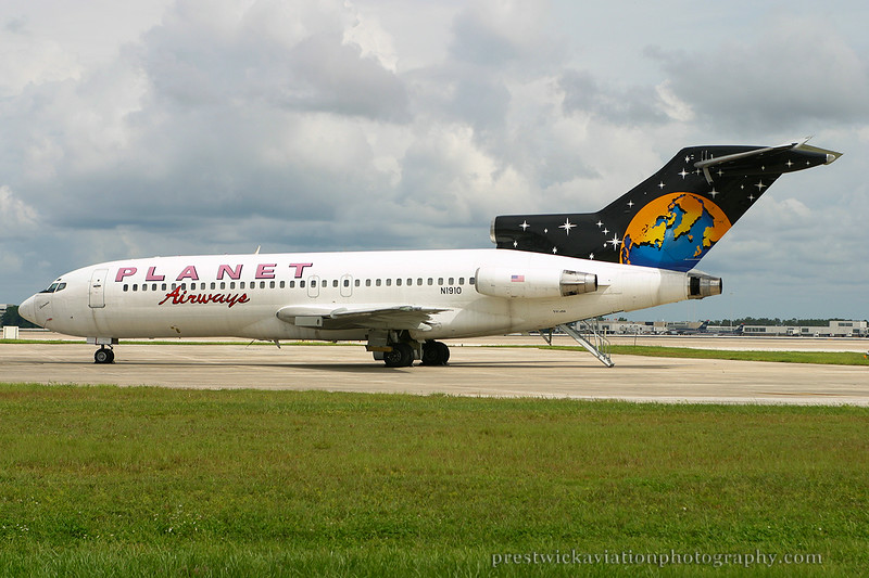 N1910. Boeing 727-23. Planet Airlines. Orlando. 050903.