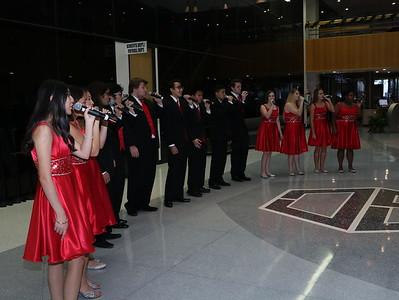 Choir singing at the Admin