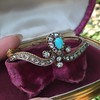 2.65ctw Victorian Turquoise and Rose Cut Diamond Tiara Bangle 23