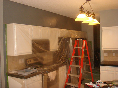 Painted kitchen/family room