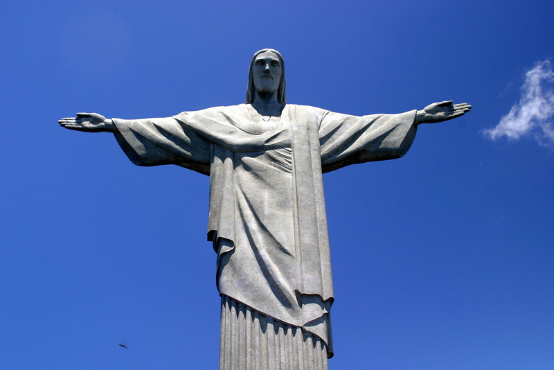The statue of Christ The Redeemer, built in 1931, located at the top of Corcovado Hill, 2004