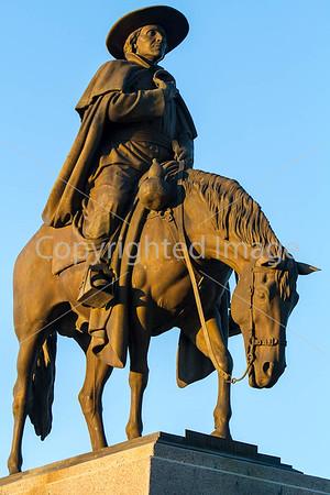 Tucson - - Father Kino & Soldado del Cuera Statues