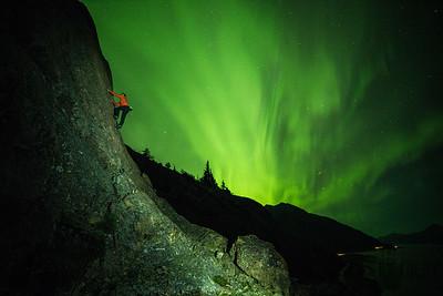 Seward Highway Aurora Rock Climb 09/10/18