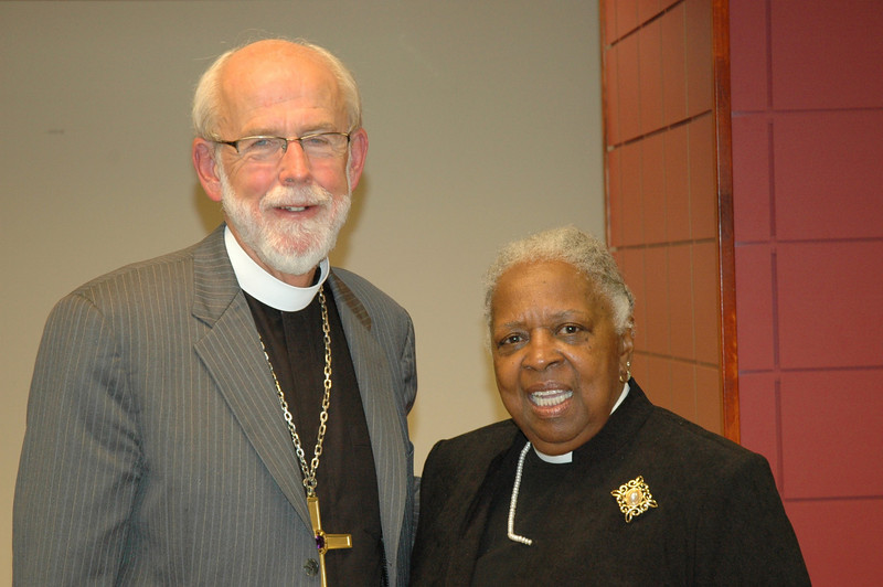 Presiding Bishop Mark S. Hanson with the Rev. Beverly Conway