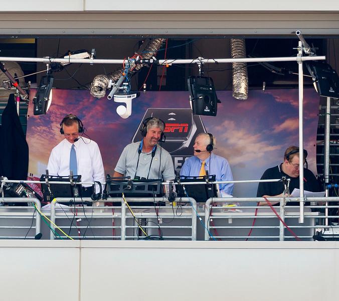 The ESPN TV crew