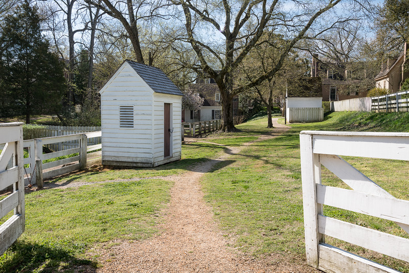 Colonial Gate, Outbuilding and Stone Path