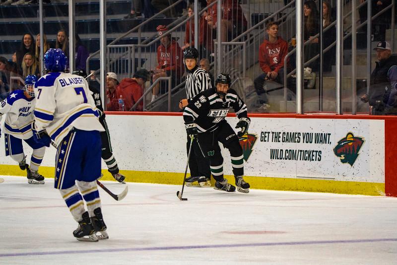 Holy Family Boys Varsity Hockey vs. Academy of Holy Angels, 12/21/19: Jaden Anderson '20 (22)