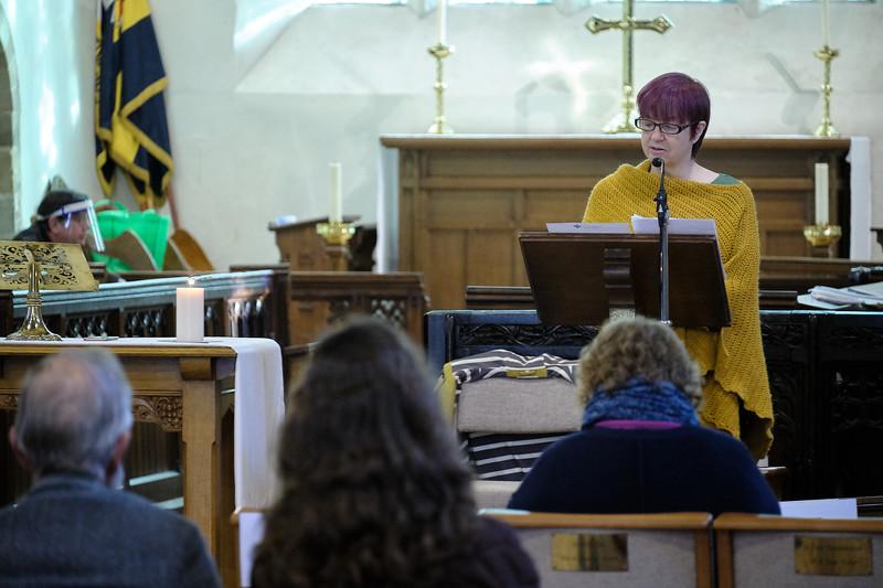 The Annual Parochial Church Meeting (APCM) held at Saint Nicolas' Church, Kings Norton on Sunday 11 October 2020. Pauline Weaver.