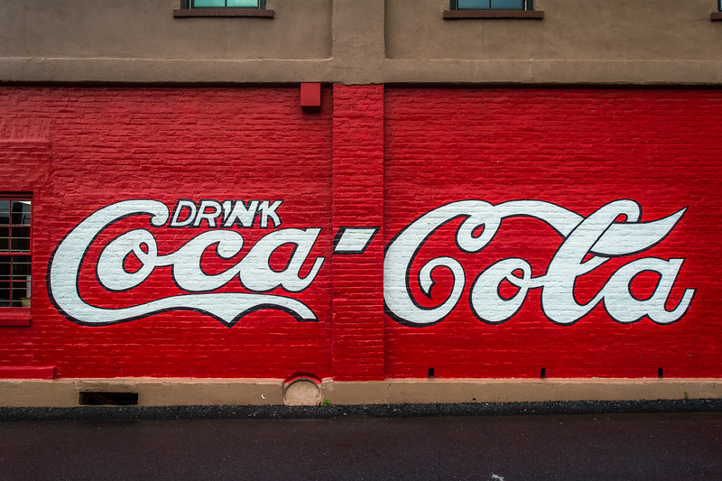 GA, Cartersville - Coca-Cola Wall Sign  02