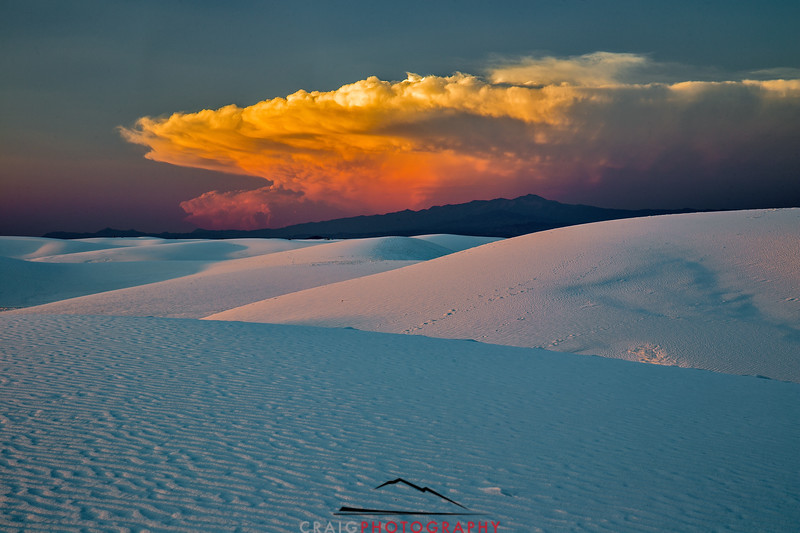 Sunset at White Sands New Mexico