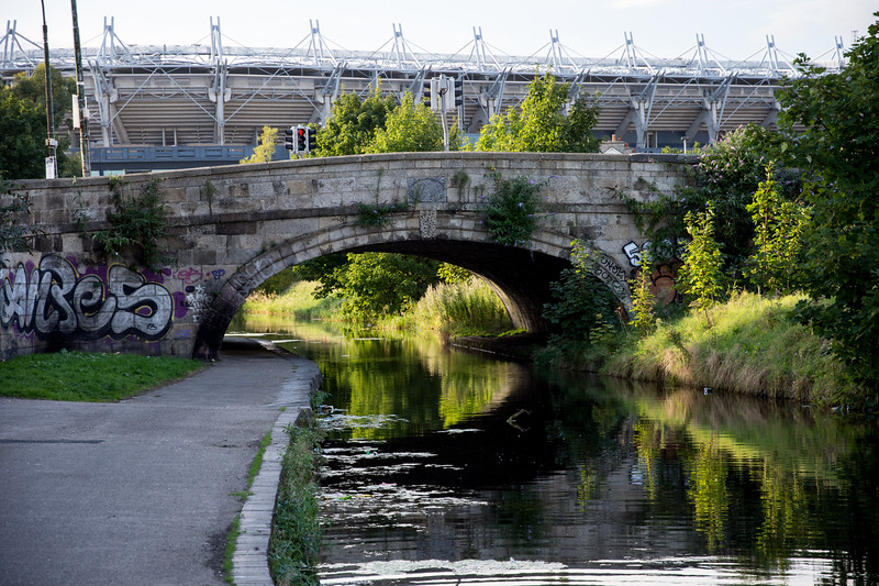 Ballybough Road bridge on Dublin's Royal Canal