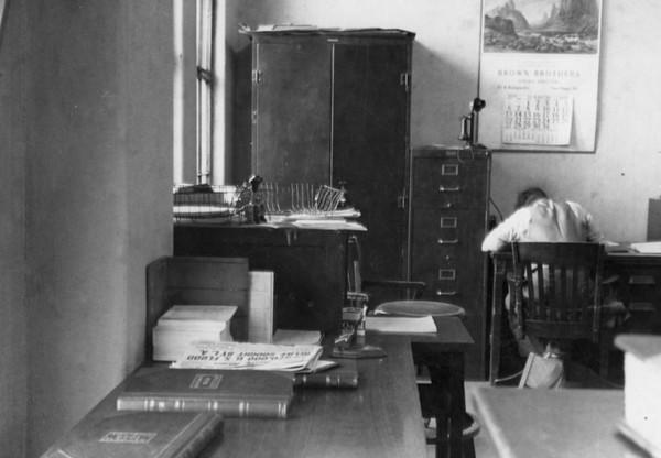 1938, In An Office