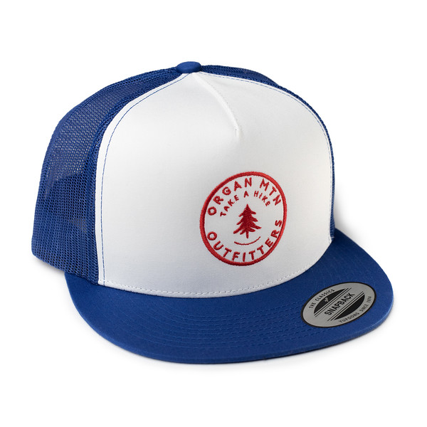 Outdoor Apparel - Organ Mountain Outfitters - Hat - Take A Hike Trucker Cap - Royal Blue White Red.jpg